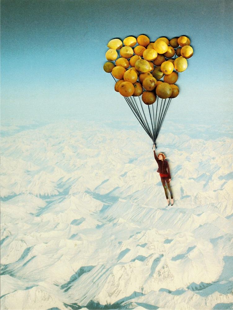 lemon-air balloon - COLLAGE CLUBSold