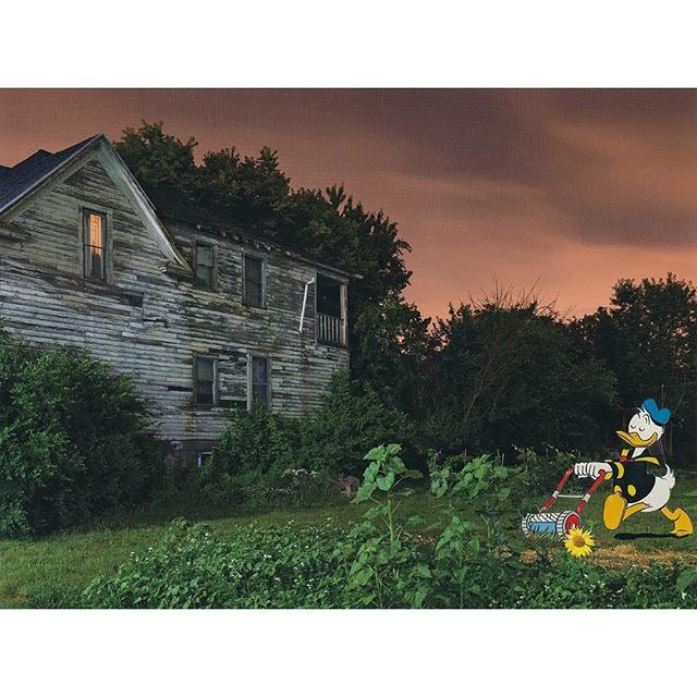 "'Late Night Gardening', 2019, paper collage by @durant.collage using a page from ""A DETROIT NOCTURNE"" by @dave.jordano . . . #mickymouse #donaldduck #comics #gardening #papercollage #analogcollage #analogcollagecommune #art #artist #artwork #collage #collagear #collageart #collageartwork #collageclub #collagecollective #collageoftheday #collagewave #contemporaryart #contemporarycollage #cutandpaste #handcutcollage #instaart #instaartist #instacollage #instagood #kunst #modernart #paperart #popart"