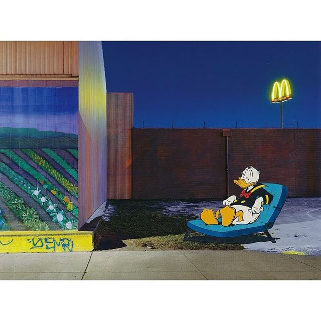 "'Full McMoon keeping me awake', 2019, paper collage by @durant.collage using a page from ""A DETROIT NOCTURNE"" by @dave.jordano . . . #sleeping #donaldduck #comics #mcdonalds #papercollage #analogcollage #analogcollagecommune #art #artist #artwork #collage #collagear #collageart #collageartwork #collageclub #collagecollective #collageoftheday #collagewave #contemporaryart #contemporarycollage #cutandpaste #handcutcollage #instaart #instaartist #instacollage #instagood #kunst #modernart #paperart #popart"