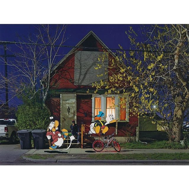 "'2019-10 When your parents kick you out on your 30th birthday', 2019, paper collage by @durant.collage using a page from ""A DETROIT NOCTURNE"" by @dave.jordano . . . #dagobertduck #donaldduck #comics #comicart #papercollage #analogcollage #analogcollagecommune #art #artist #artwork #collage #collagear #collageart #collageartwork #collageclub #collagecollective #collageoftheday #collagewave #contemporaryart #contemporarycollage #cutandpaste #handcutcollage #instaart #instaartist #instacollage #instagood #kunst #modernart #paperart #popart"