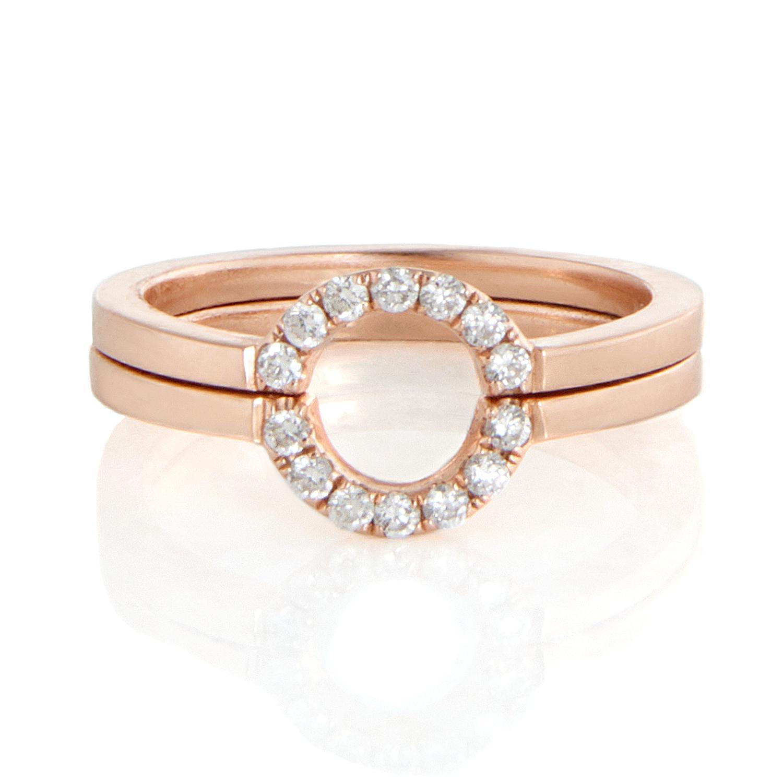 18K Rose Gold, Diamonds