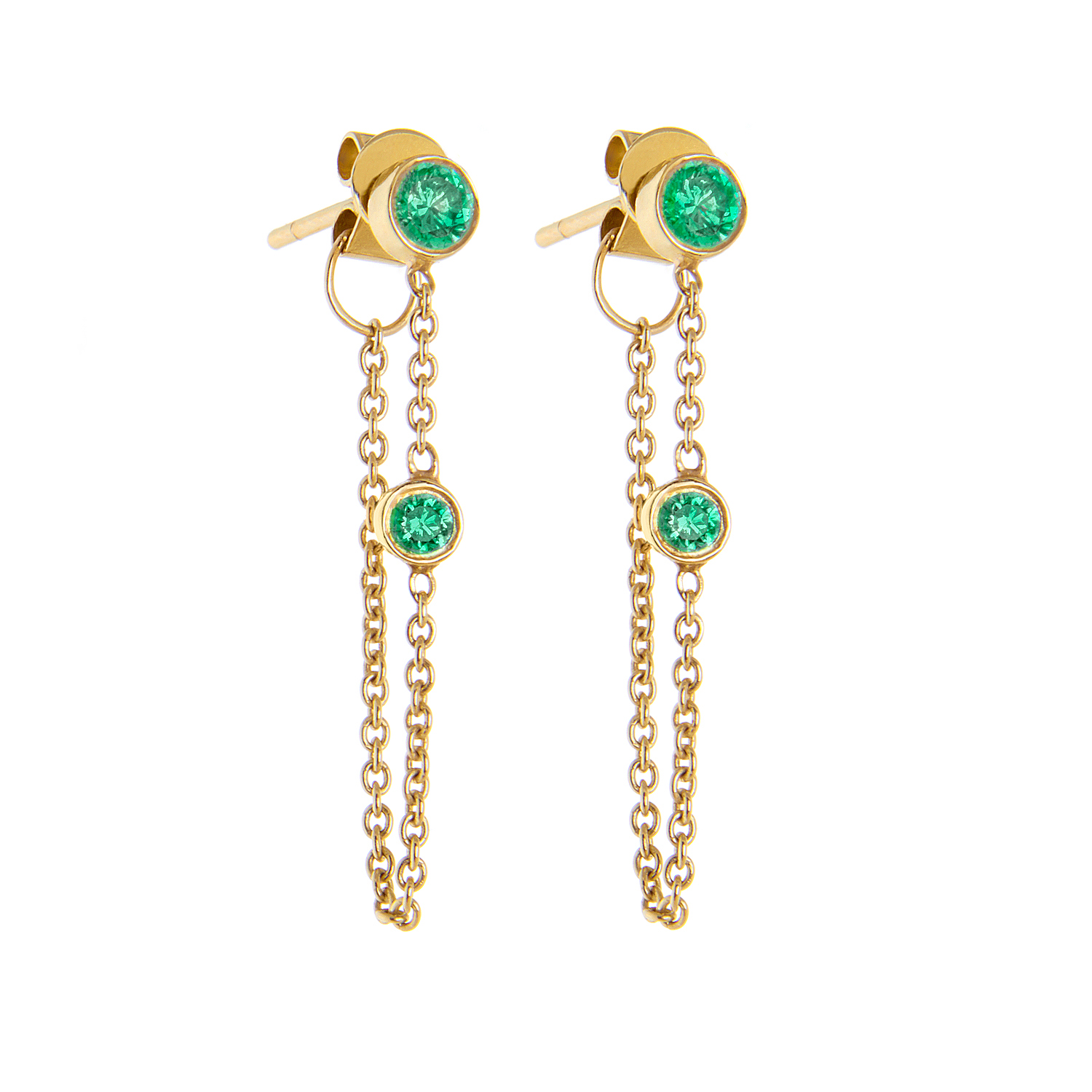 14K Yellow Gold, Emeralds