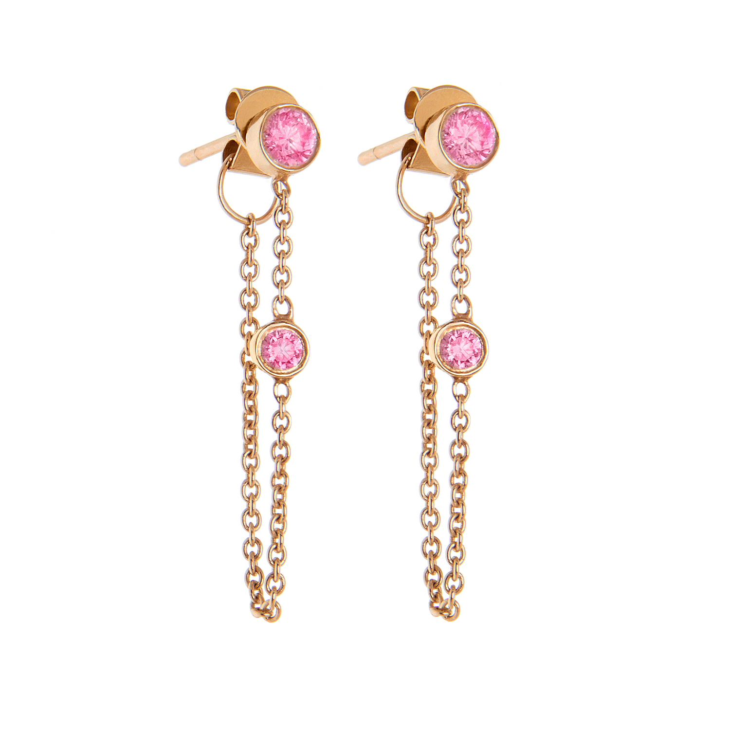 14K Rose Gold, Pink Sapphire