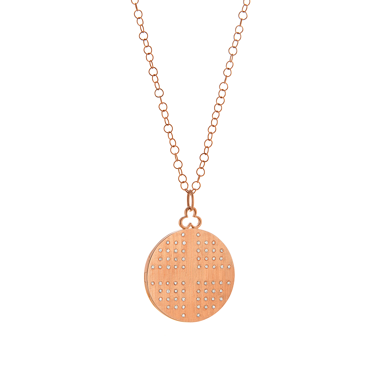 18K Rose Gold, Large, Florentine Finish
