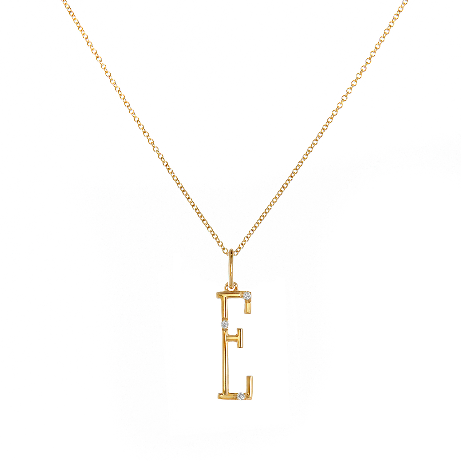 "18K Yellow Gold - ""E"""