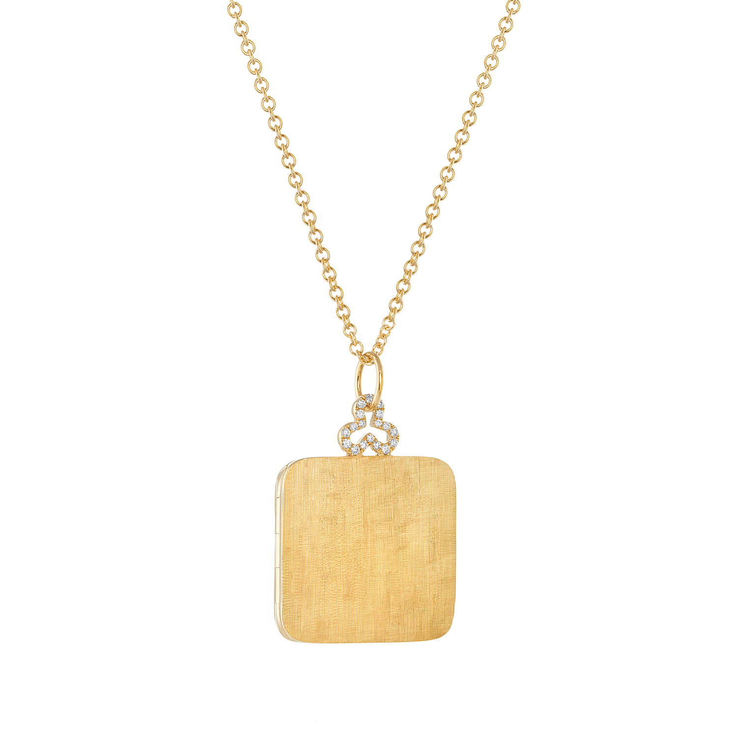 18K Yellow Gold, Large, Florentine Finish