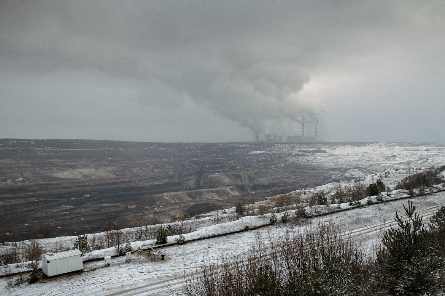 Bełchatów coal mine is the largest opencast coal reserve in Poland. The neighbouring power station is the largest coal-fired power plant in Europe and provides 20% of Poland's energy. With an annual CO2 emission of about 38 million tonnes, the European Commission ranked Bełchatów Power Station the most climate-damaging power plant in the European Union.