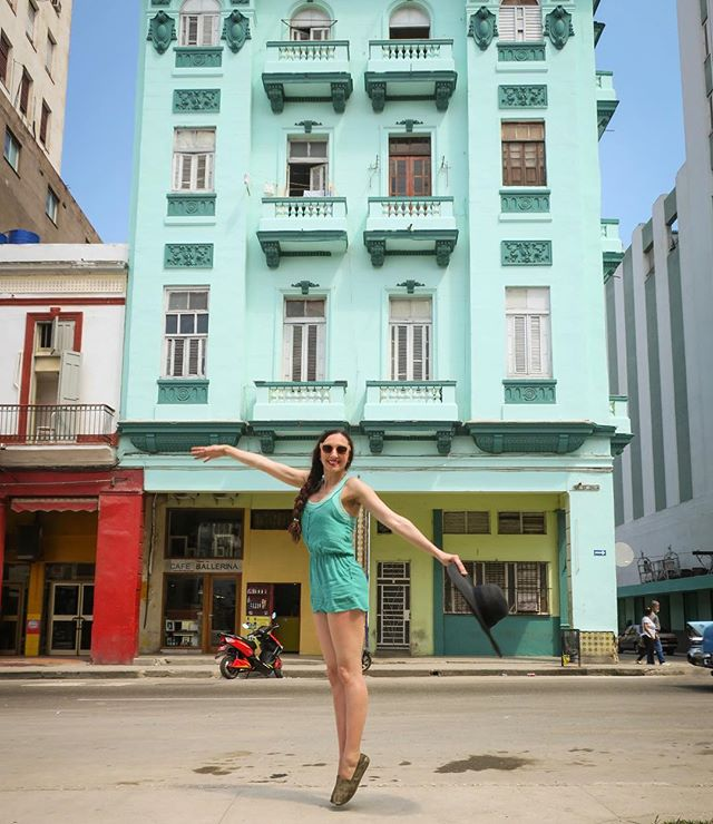 Cuba keeps you on your toes~! I couldn't help but stop and take a photo in front of this colorful teal building. 🌍❤️👯 #cuba #vintagestyle #havana #bucketlist✔ #vintageshoot #getshitdone2017 #cubatrip #gdc #girlslovetravel #travelbug #sheisnotlost #globetrotter #ladiesgoneglobal #traveladdict #globelletravels #darlingescapes #traveltheworld #wearetravelgirls #dametraveler #femmetravel #thetravelwomen #travellife #girlsborntotravel #travellushes #travelpicsintheworld