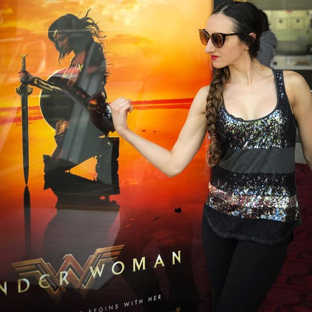 Tonight I watched the movie Wonder Woman.  TBH typically I'm not a huge movie goer but I've always enjoyed seeing the superhero movies in theatre.  I was super excited that finally there was a superhero movie with a female lead. 👌🏼 I knew I would have some feels but I what I didn't expect to feel was angry. Yes angry.  About halfway through the movie I realized this,THIS is what little boys growing up watching with each and every single superhero movie, they leave the theatre feeling like they can save the world. I have never experienced that feeling leaving the theatre. Ever. I can not remember a single time in my life I've watched a movie with a female lead in which the men completely step aside as she beat up the bad guys and handled it all. 🙌🏼 It sounds very silly but I left feeling like I could take over the world. I felt like if she could do it, I can do it too.  This is the feeling every single little girl (and woman) needs to feel, like she can do it too.  This is exactly what we need more of in this world. 🌍🙏🏼❤️ #wonderwoman #amctheaters #girlboss #femalelead #warnerbrosstudios