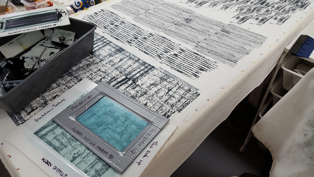 Anita Bennett: using thermofax screens to create texture