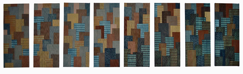 Hidden Message Skyscrapers (262cm x 74cm) £1120
