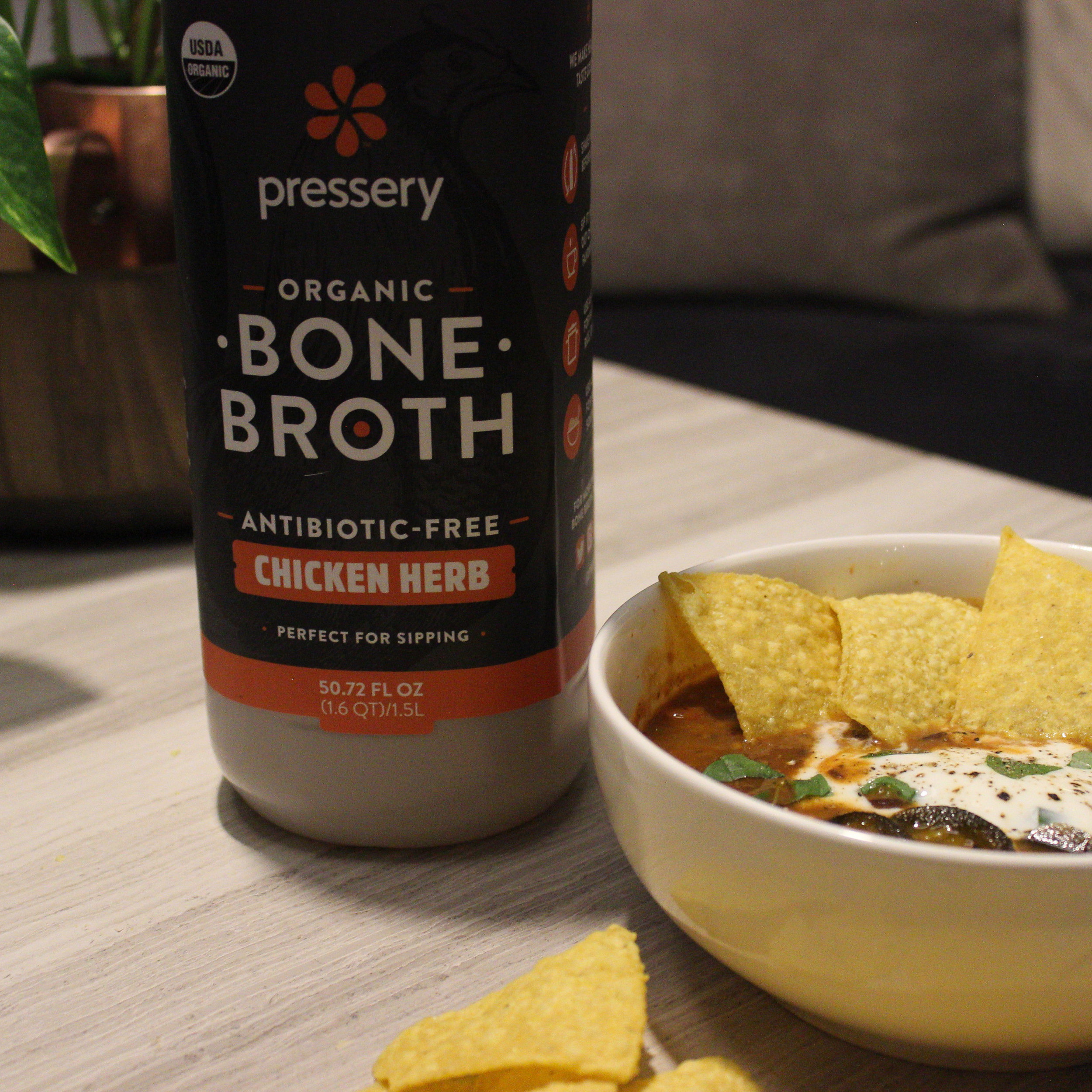 Using fresh bone broth adds flavor and dimension to the dish. If you're using store-bought broth, be sure to look for an organic, antibiotic-free option.