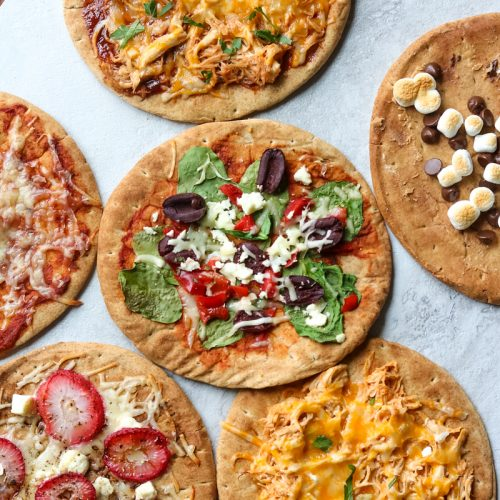 Pita Pizzas are an easy, versatile hit with eaters of all ages.