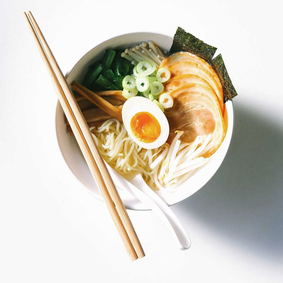 Visit  Happy Keto  for a mouthwatering low-carb ramen made with shirataki noodles.