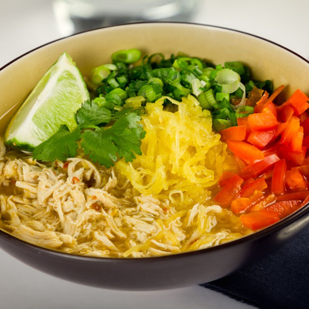 Nab a recipe for this healthy, low-carb spaghetti squash ramen  here .