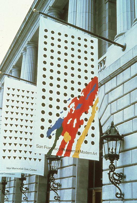 San Francisco Museum of Modern Art and War Memorial Opera House Banners 1980