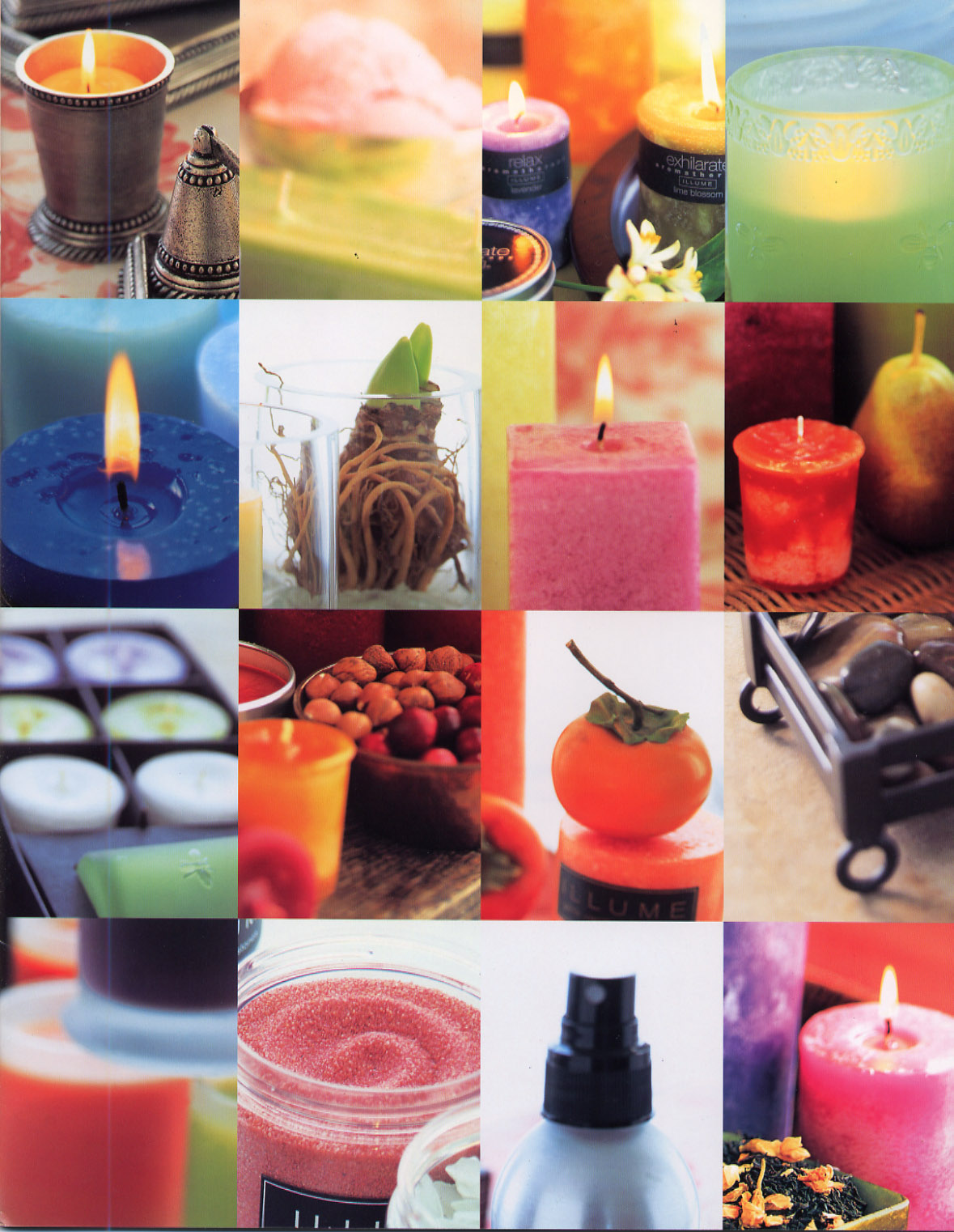 Opening Spread of Illume Candle Catalog 2006