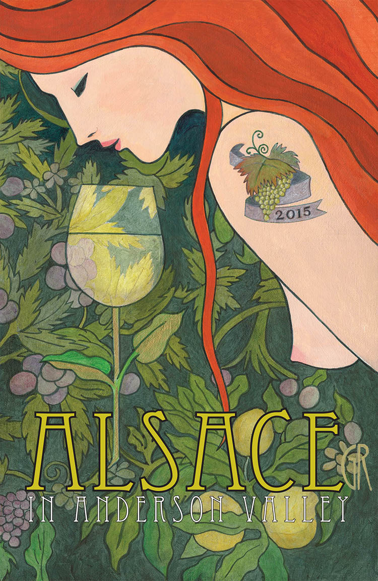 Anderson Valley Alsace Festival Poster 2015