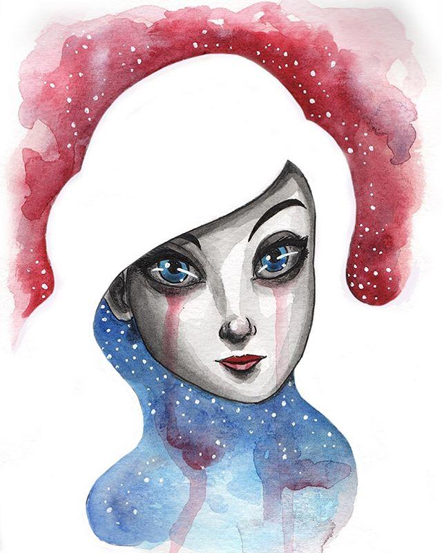 Hi ✌️ . . . #watercolor #art #illustration #chicagoart #chicagoartist