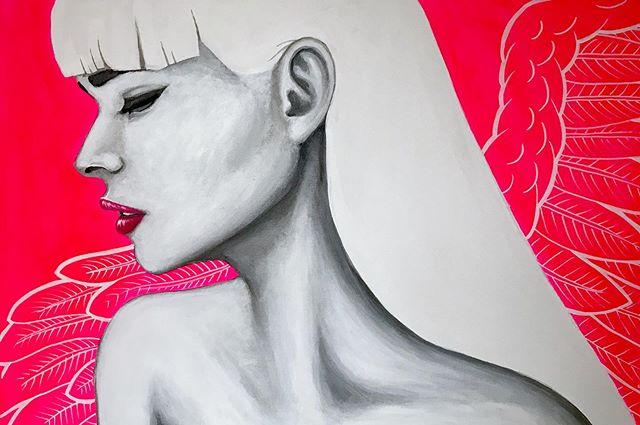 "Wings II, 24"" X 36"", acrylic on canvas. . . . #art #paint #painting #chicago #chicagoart #chicagoartist #chicagoartists"