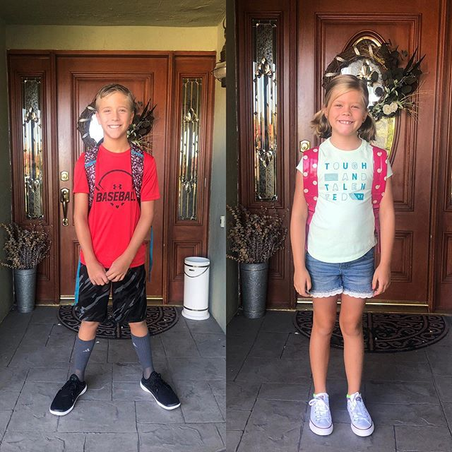 And they're off...5th and 3rd grade here they come!