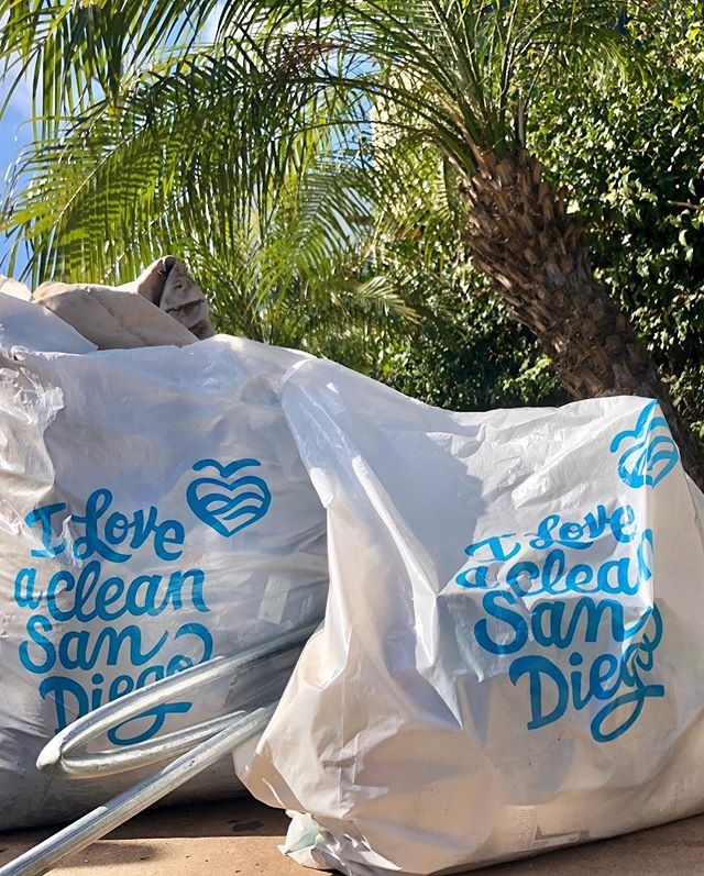 Making Point Loma just that much prettier. One bag full of litter, half bag of recycling—most coming from the shores of Americas Cup Harbor. #iloveacleansandiego #trashtag #pointloma