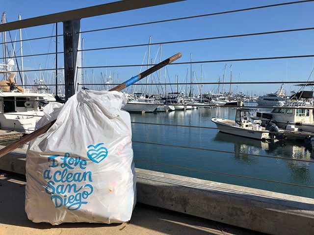 Earth Day! 🌎 2 trash bags full. Cleaner earth, cleaner ocean. #pointloma #iloveacleansd #trashtag #earthday