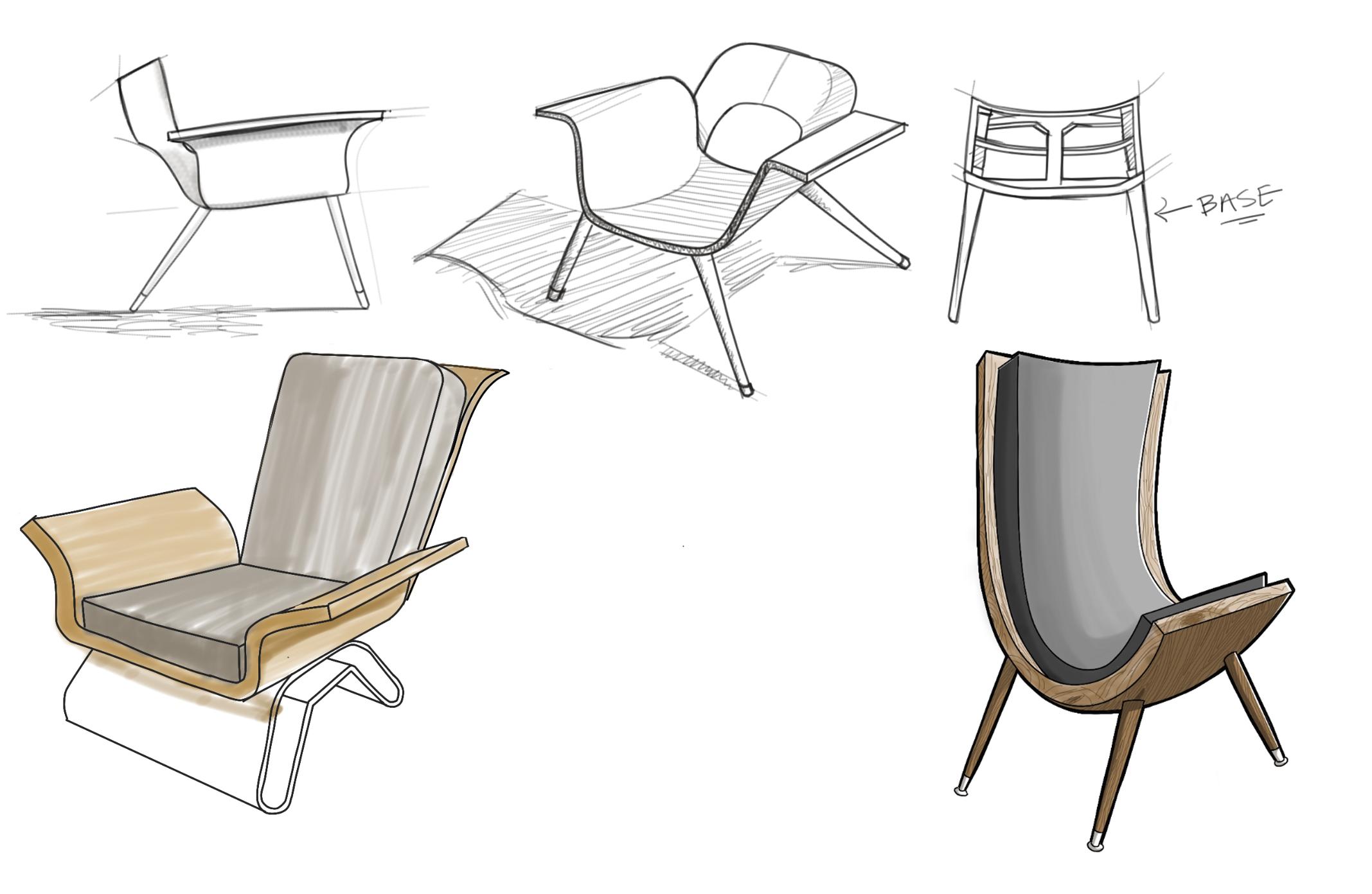Chair Study   Digital Sketch, Sketchbook Pro