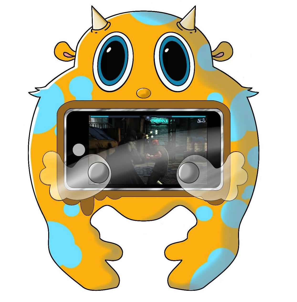 "Toy Design - ""Mighty Midget"" iPhone Game Controller Case   Digital Sketch, Sketchbook Pro"