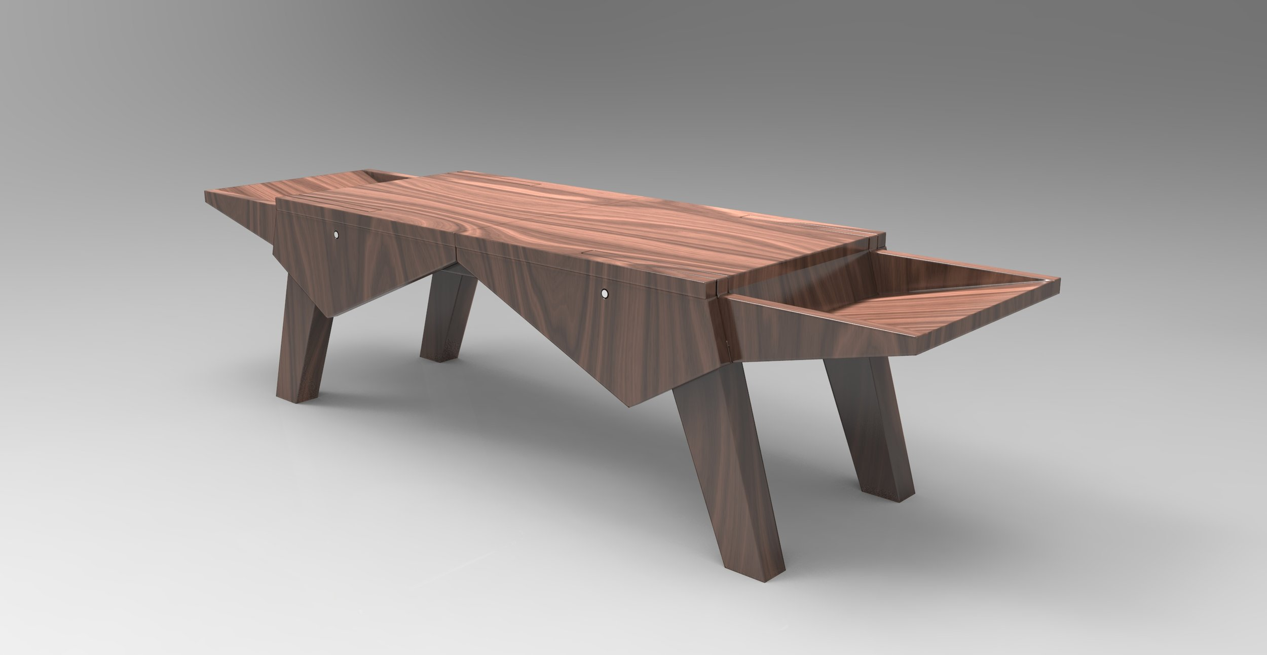 Transforming Chairs to Coffee Table   3D Model, Solidworks