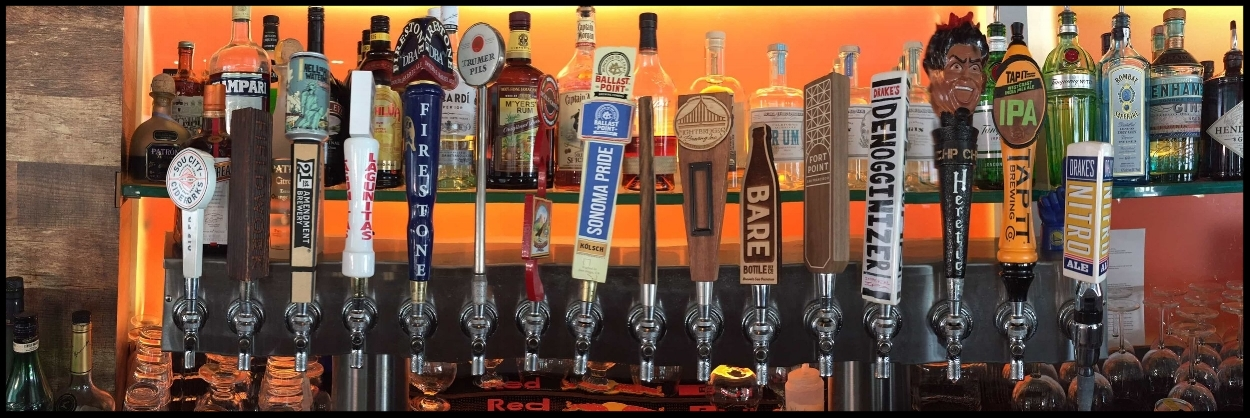 The Grill House Craft Beer Selection of Draft Beers