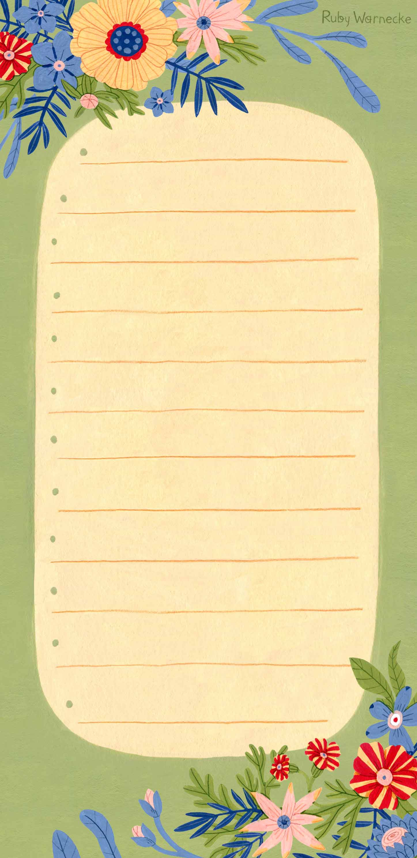 Copy of flowers - shopping list