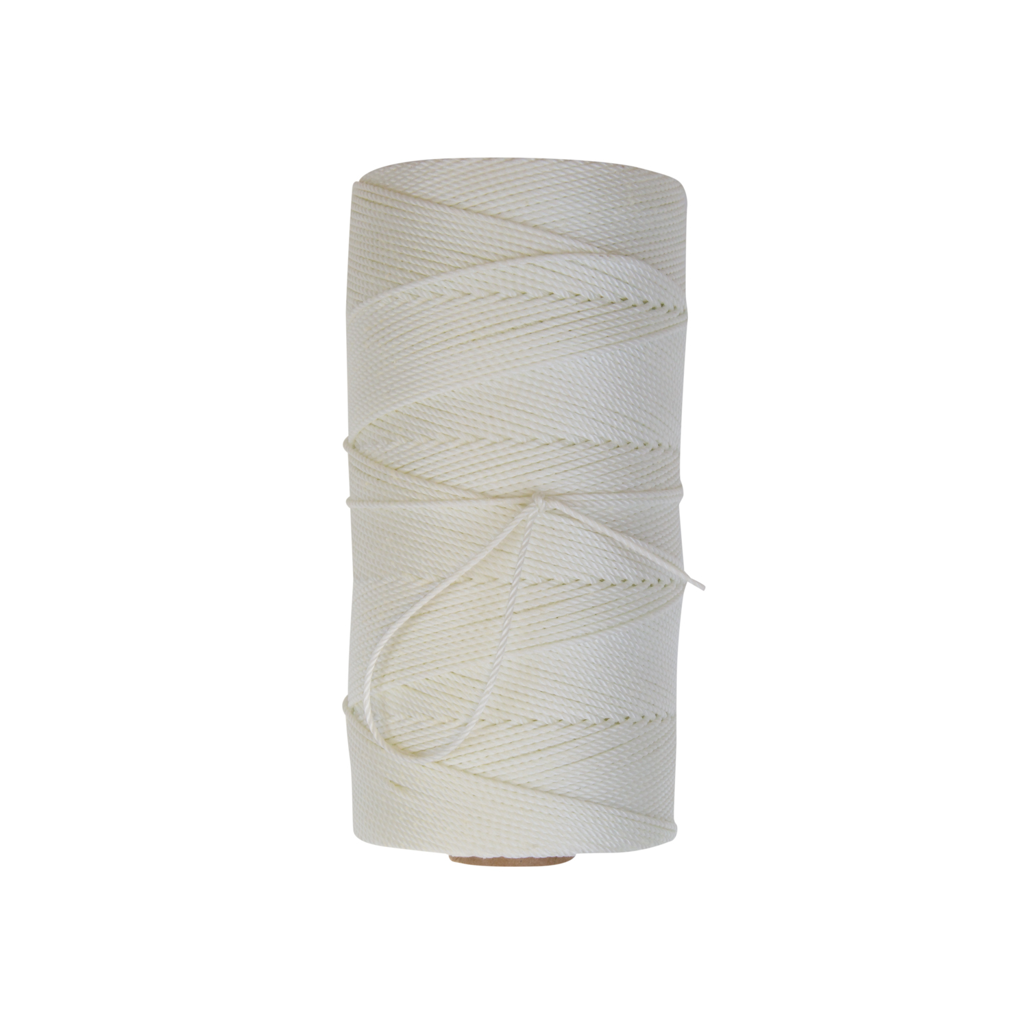 Bonded Seine Twine - Three strand twisted 100% industrial nylon that is linear processed in urethane bonding solution, brushed, and then dried in gas fired ovens. Can be white (clear) bonded or green bonded.