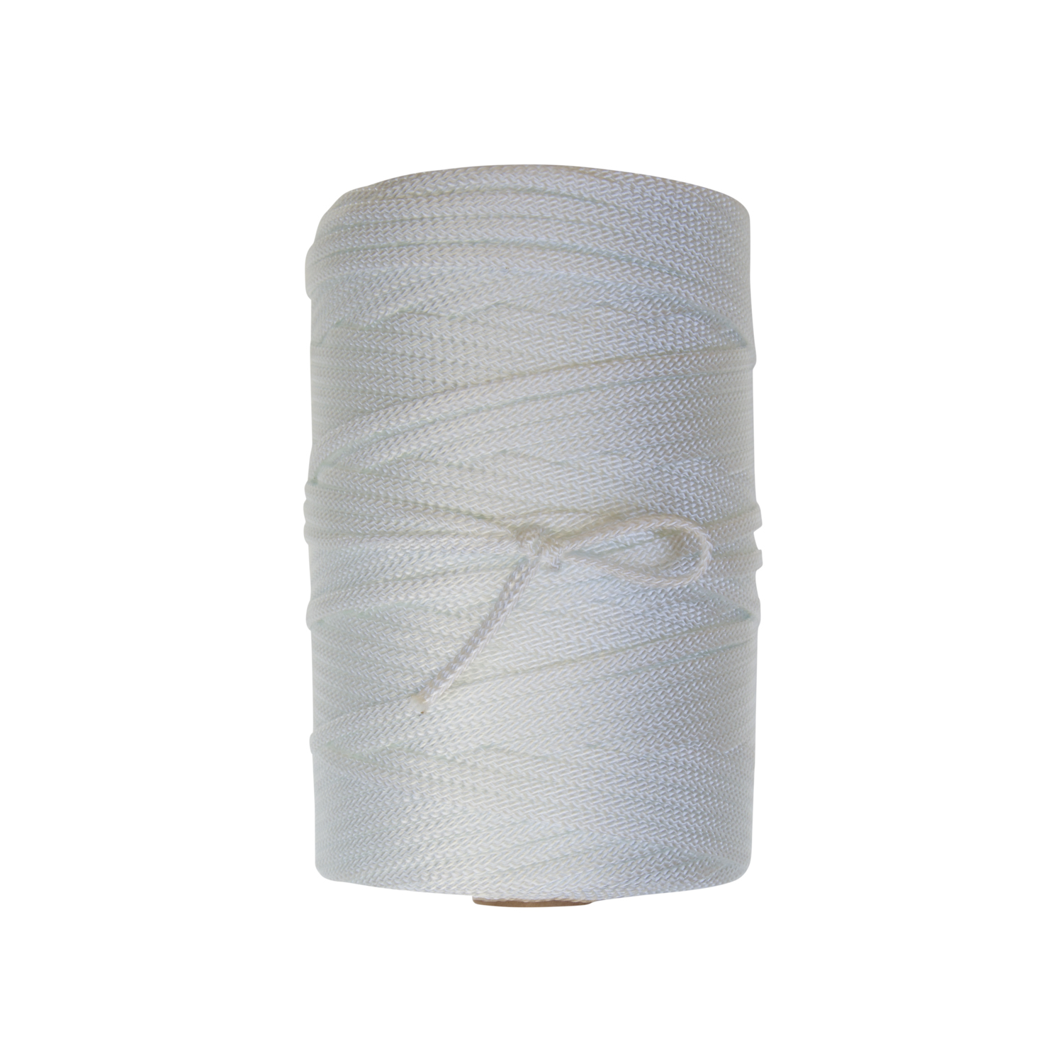 Nylon Flat Cord - Flat braided nylon in a 16 carrier construction for specialty uses in commercial, industrial, and recreational applications. Available in natural white and in basic perma-color nylons.