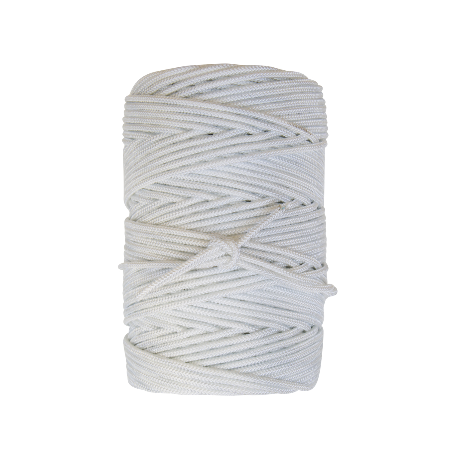 High Tenacity Hard Lay Gangen - Constructed of natural white nylons and high tenacity HMPE fibers for extra strength. Material has a firm hand lay for special applications in commercial fishing and other applications requiring a hard lay high tenacity cordage.