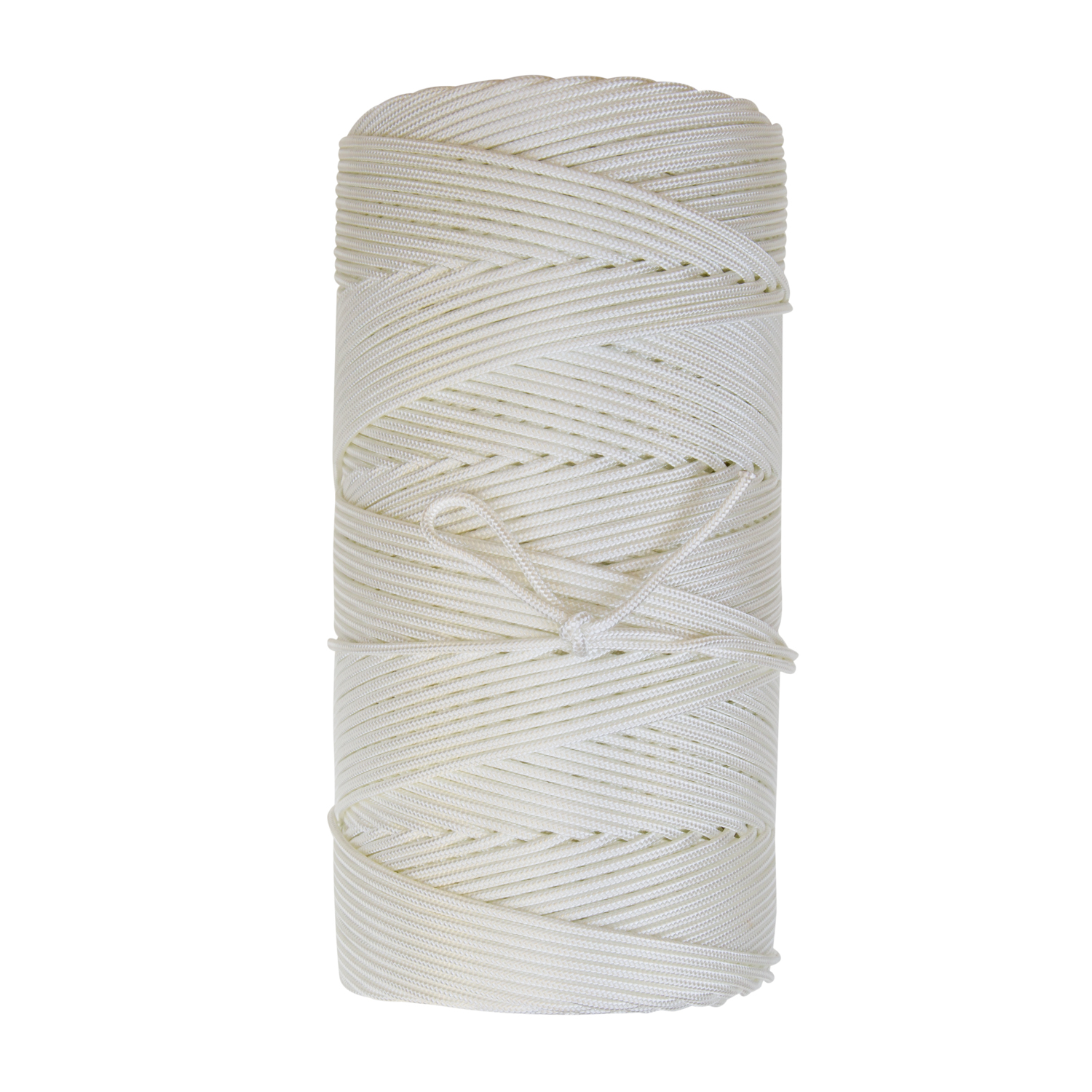 Braided Becket - Constructed of natural white industrial nylon and high tenacity polyester, this 16 carrier round braid is ideally suited for commercial fishing and other applications requiring a medium lay cordage.