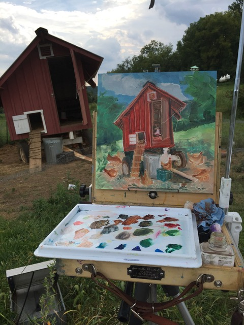D Ball painting Quirky Chicken Coop.jpeg
