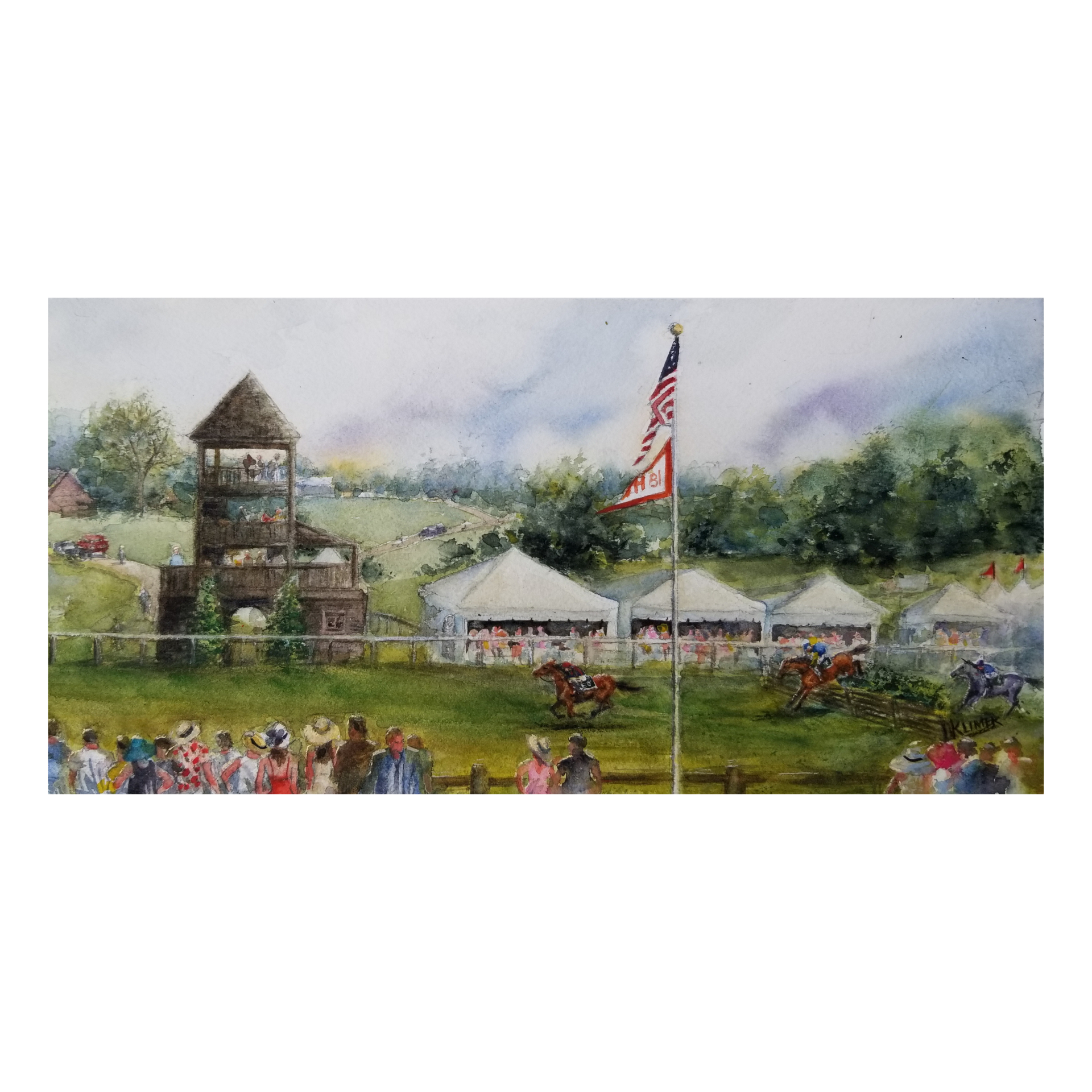 """Sold  """"Radnor Hunt Races""""   Donna Clement"""