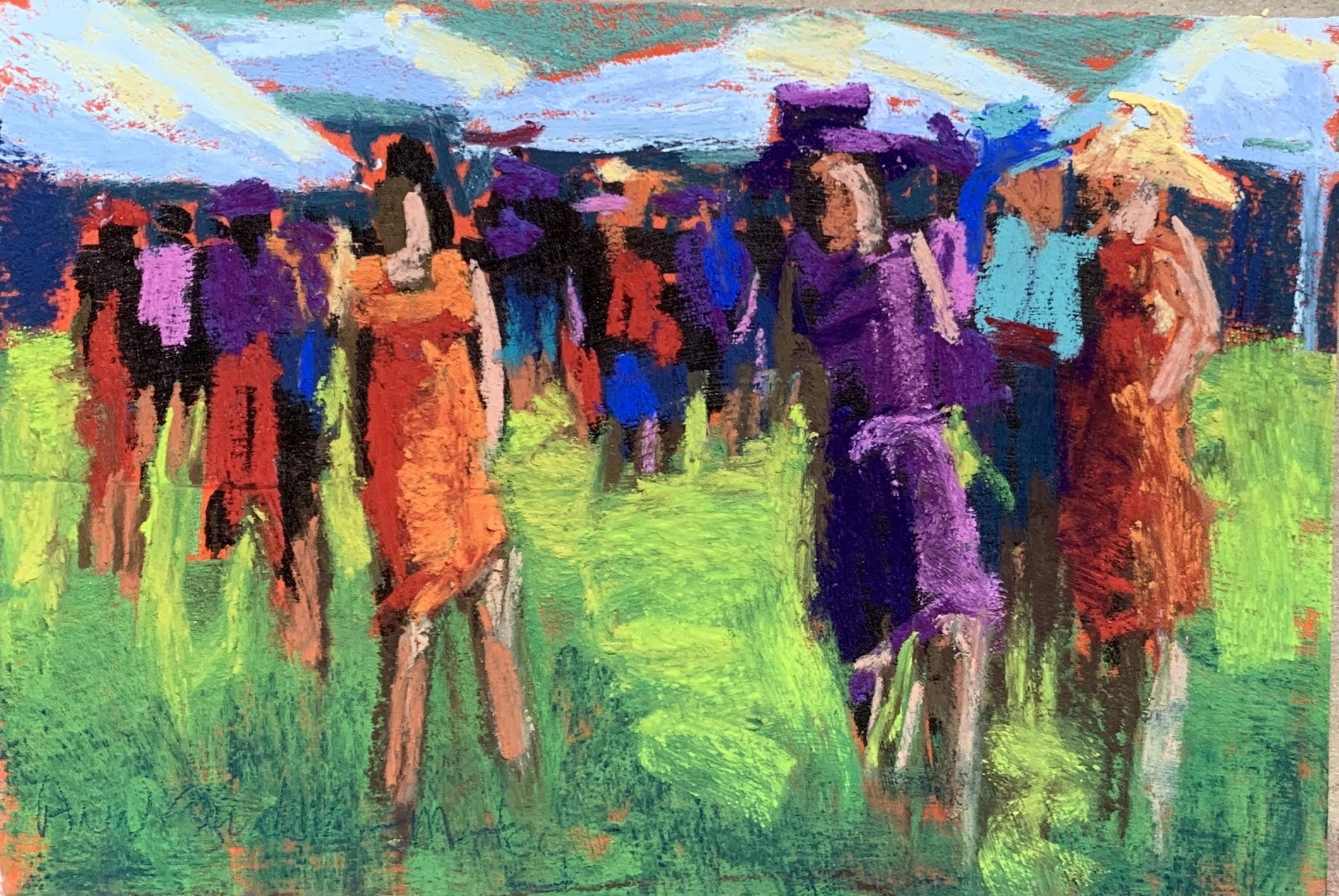 """""""People Watching at the Races"""" Ann Guidera-Matey"""