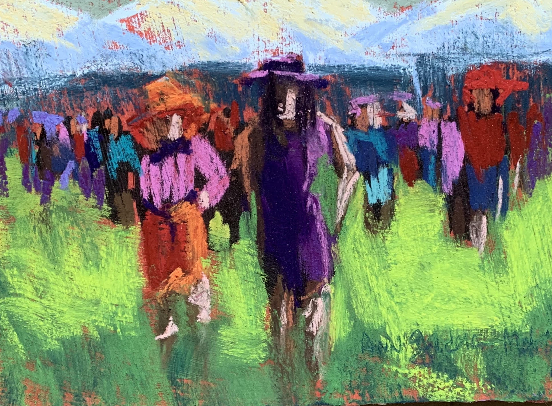 """""""People Watching #2 at the Races"""" Ann Guidera-Matey"""