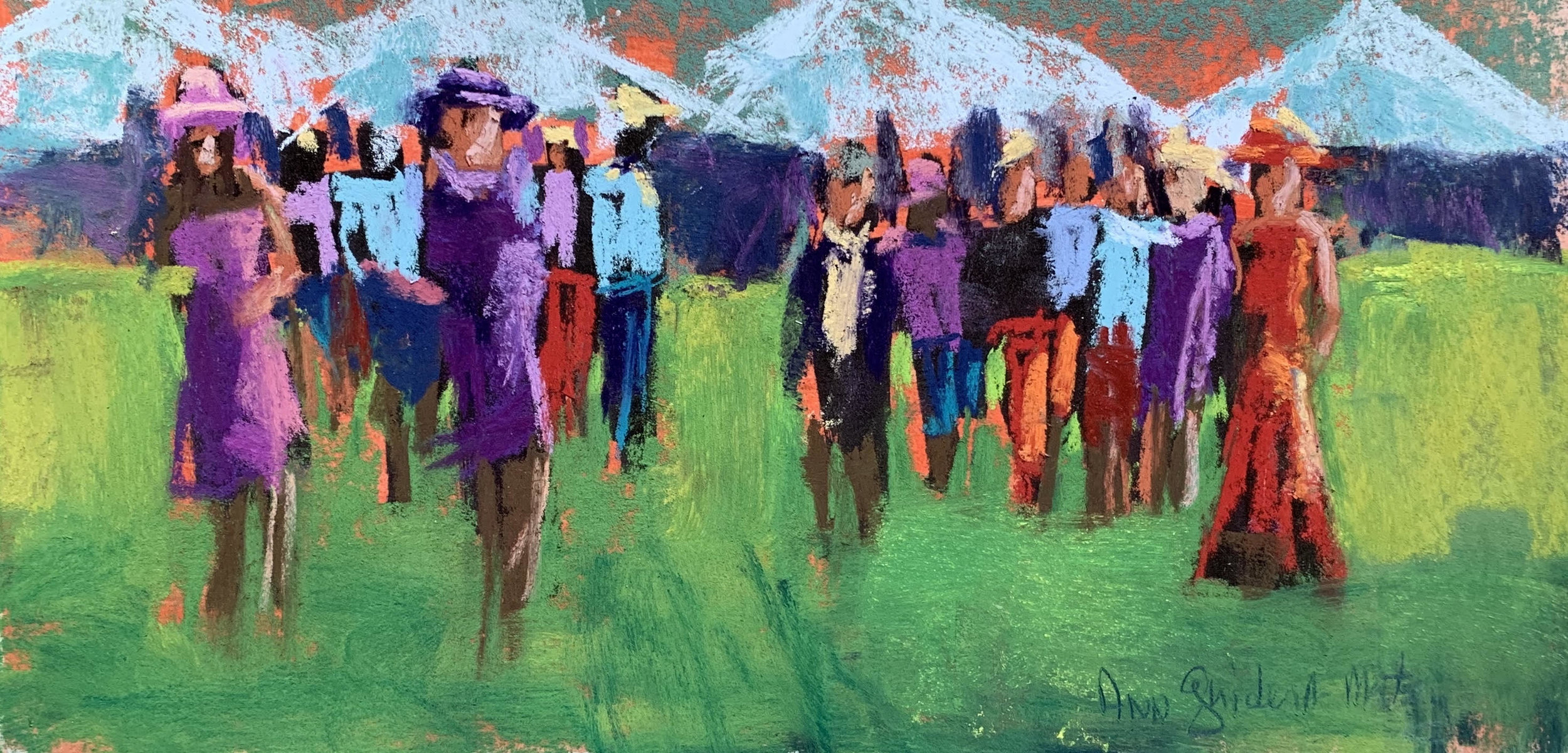 """""""Spiffed up for the Races""""  Ann Guidera-matey"""