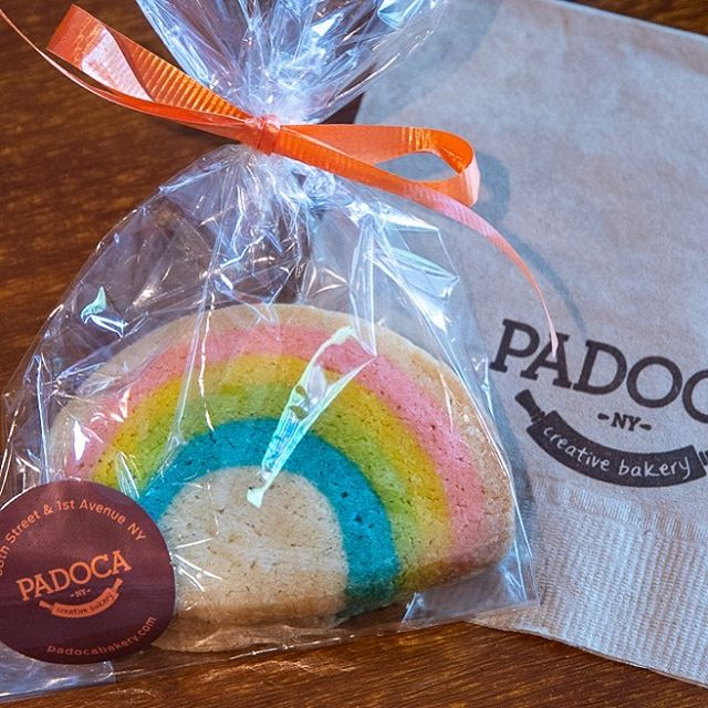 Happy #worldpride2019 ! We love a good celebration for a good cause! For the month of June, proceeds from our #rainbow cookies are going to to @trevorproject 🏳️🌈 #stonewall50 #nyc