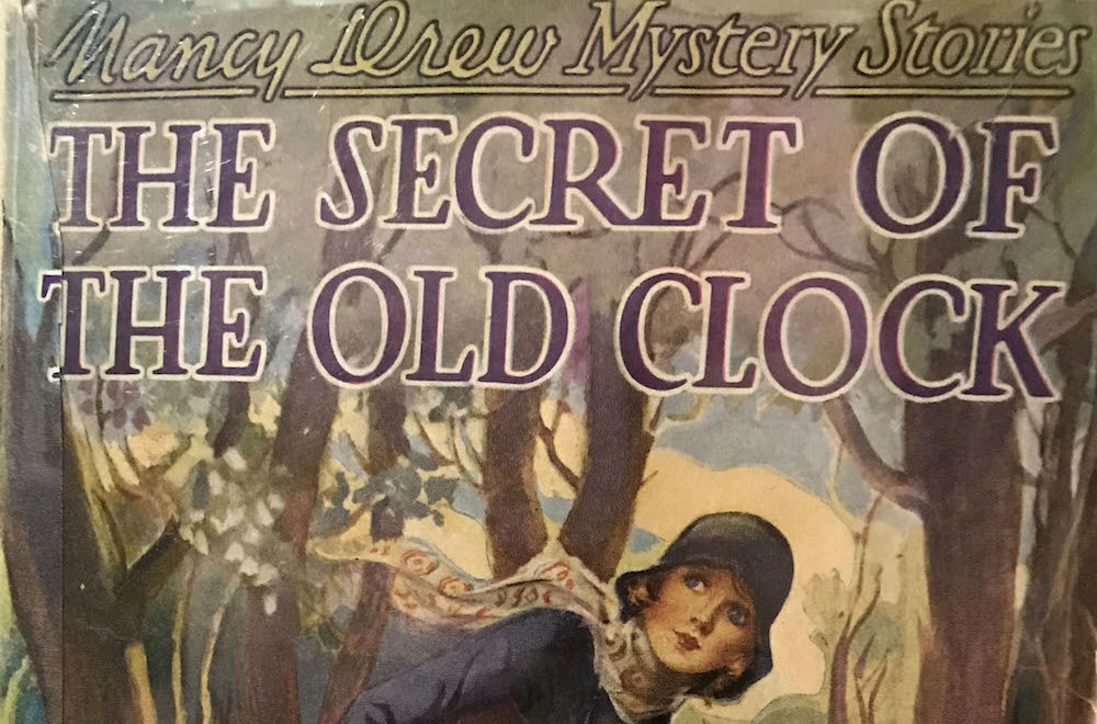 Photo from Jennifer Fisher, founder of Nancy Drew Society, of The Secret of the Old Clock