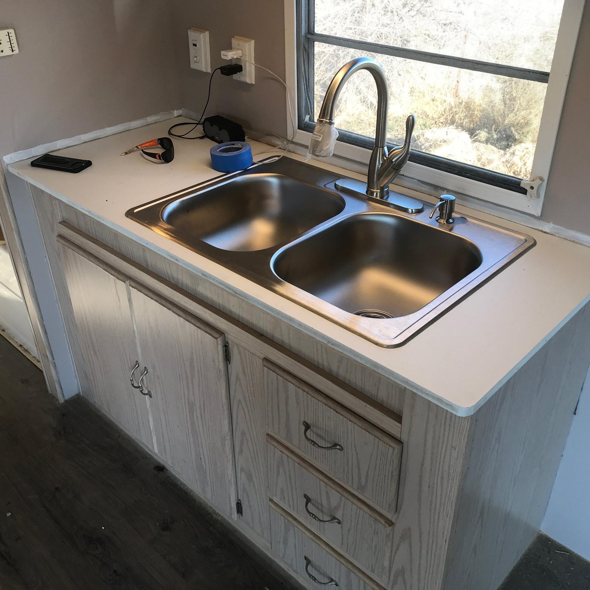 RV Sink and cabinet installation -