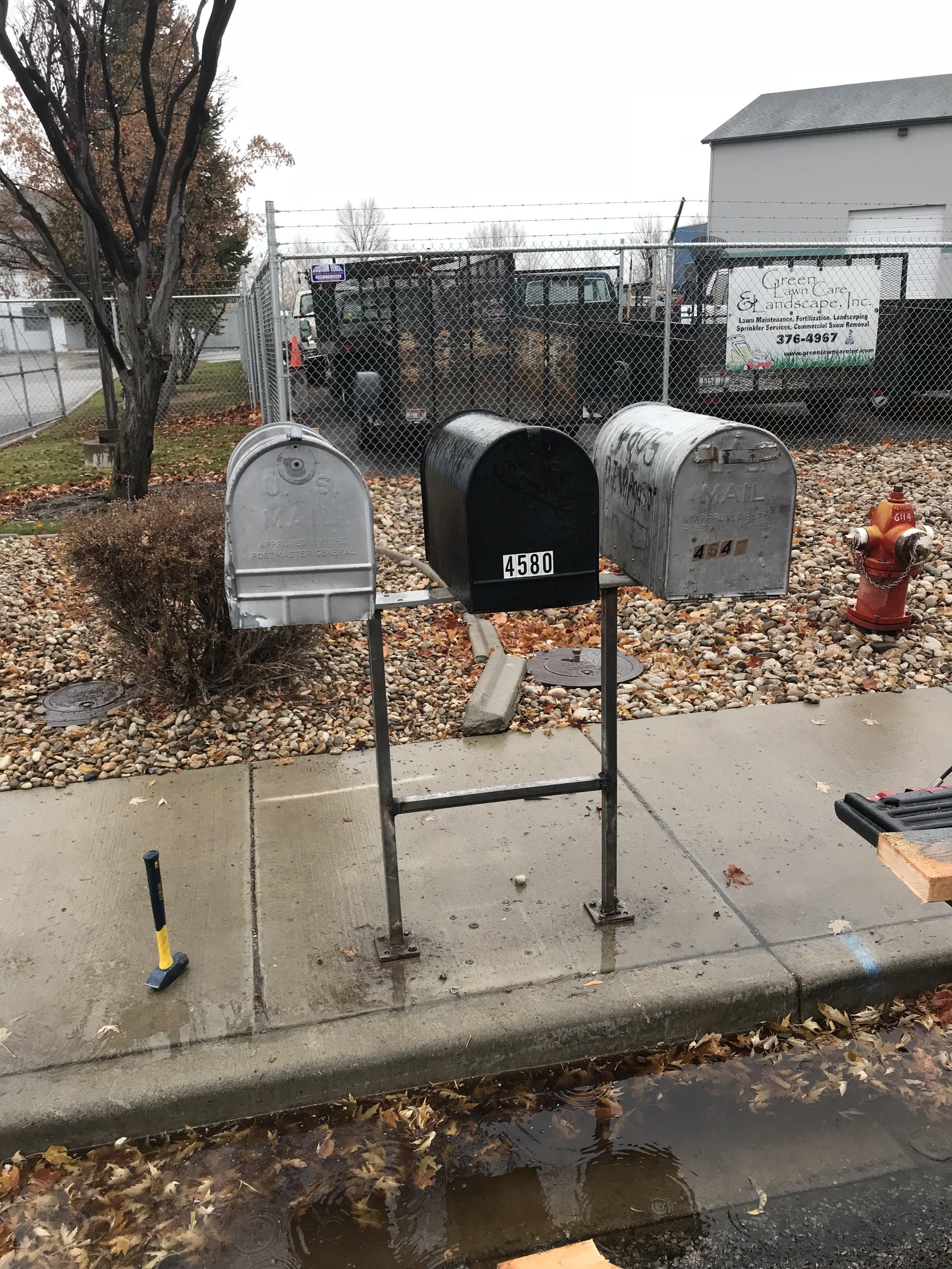Mailbox repair -