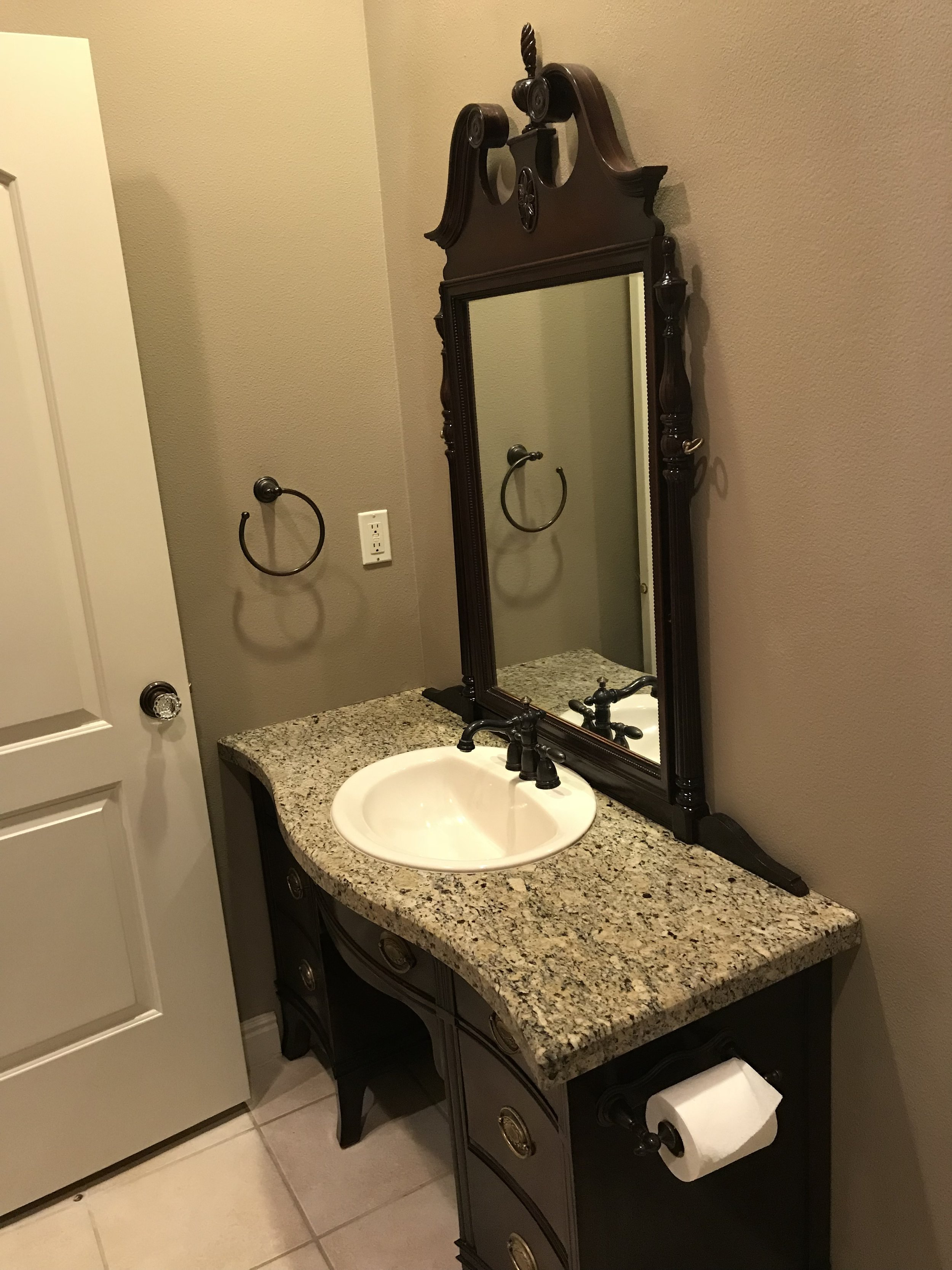 Reclaimed Vanity and Sink Project -