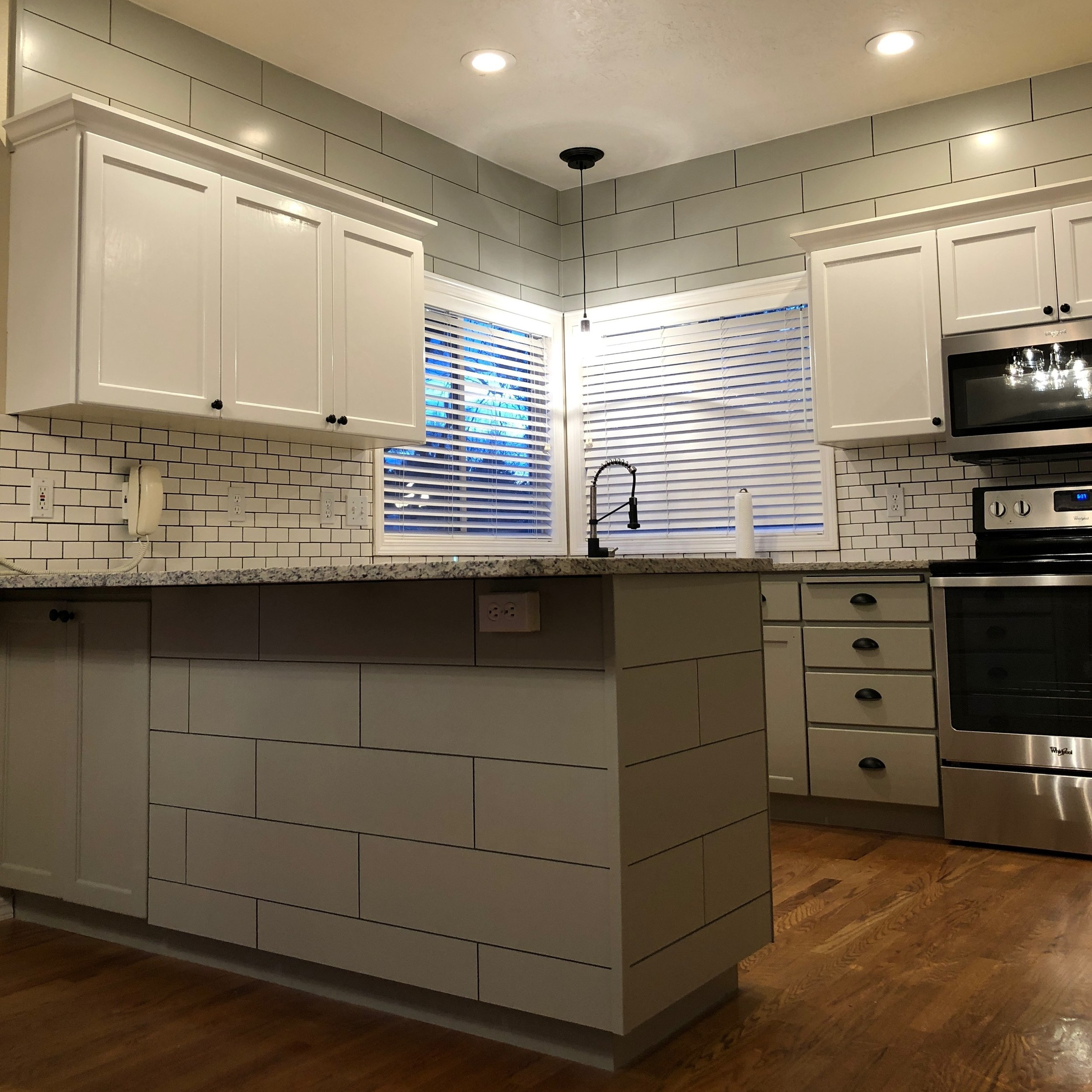 Cabinet painting and ship lap siding -