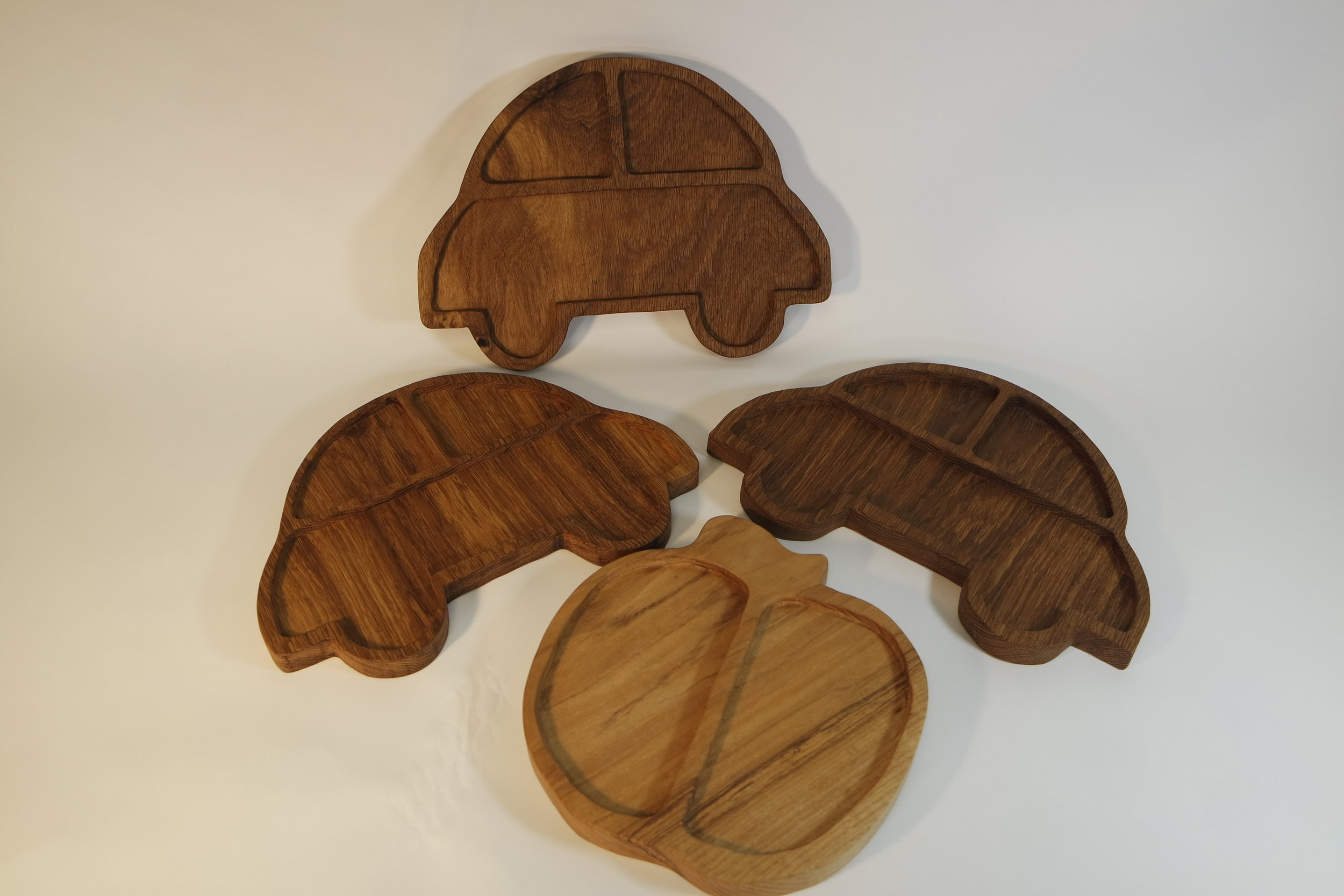 A selction's of plates for Children snacks