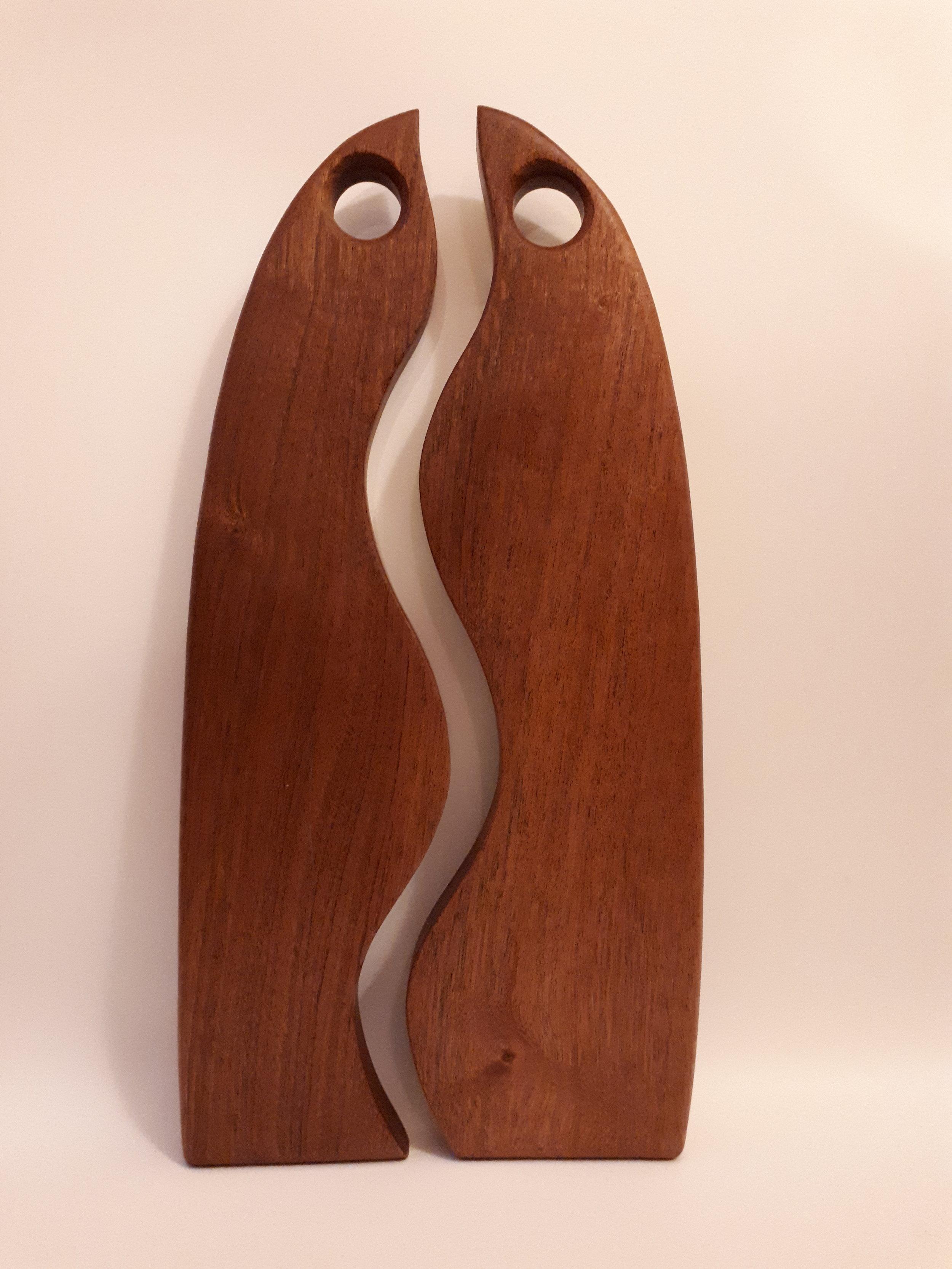 "Sapele Wood ""Birds"" serving board"