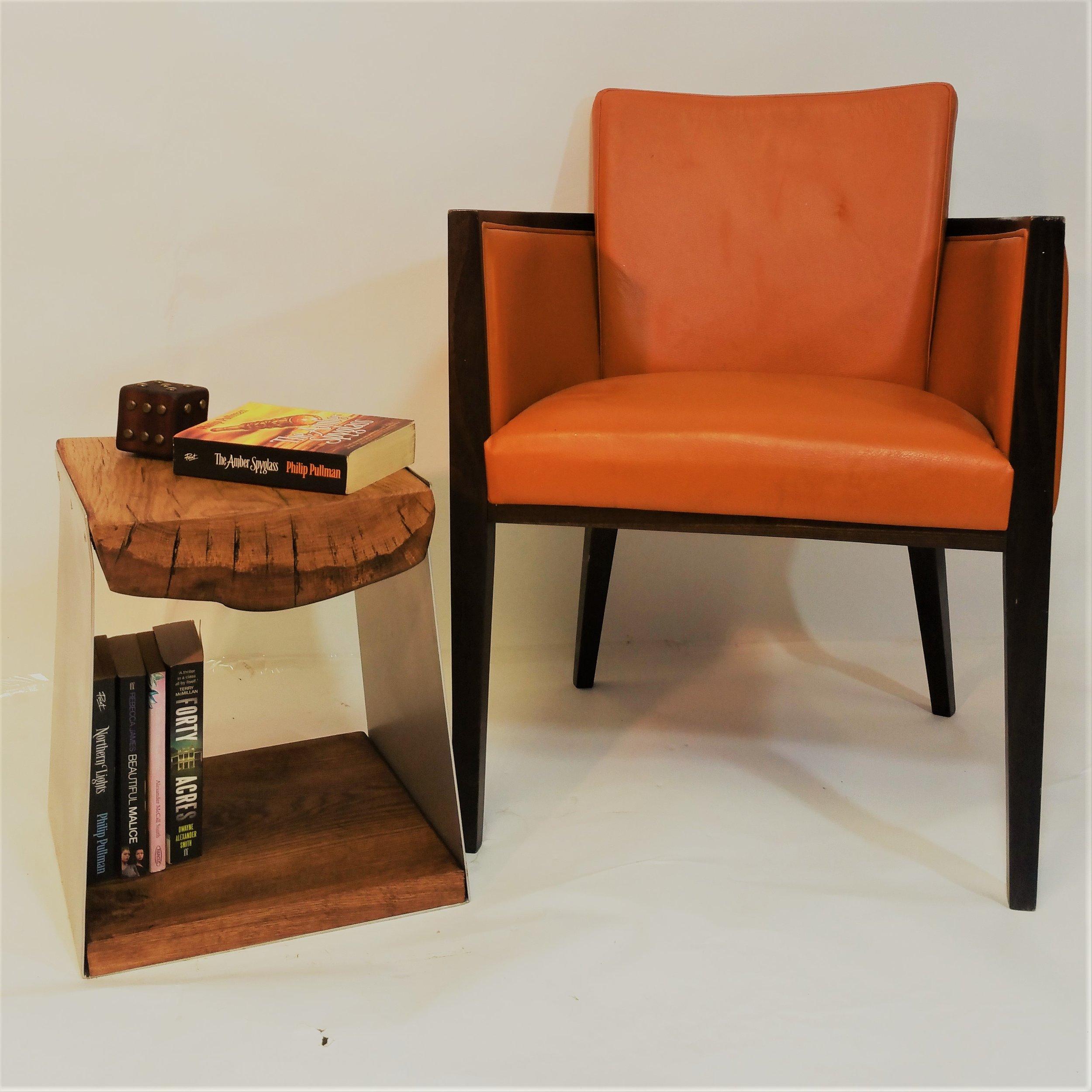 Oak Steel Side table